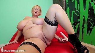 Sam Jam - blonde pornstar samantha 38g - fat exasperation and monster gut