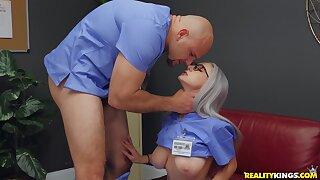 Low-spirited medical professional Skylar Vox gets her kicks at work